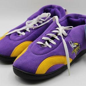 NFL VIKINGS Men's Yellow / Purple Comfy Shoes 9/10